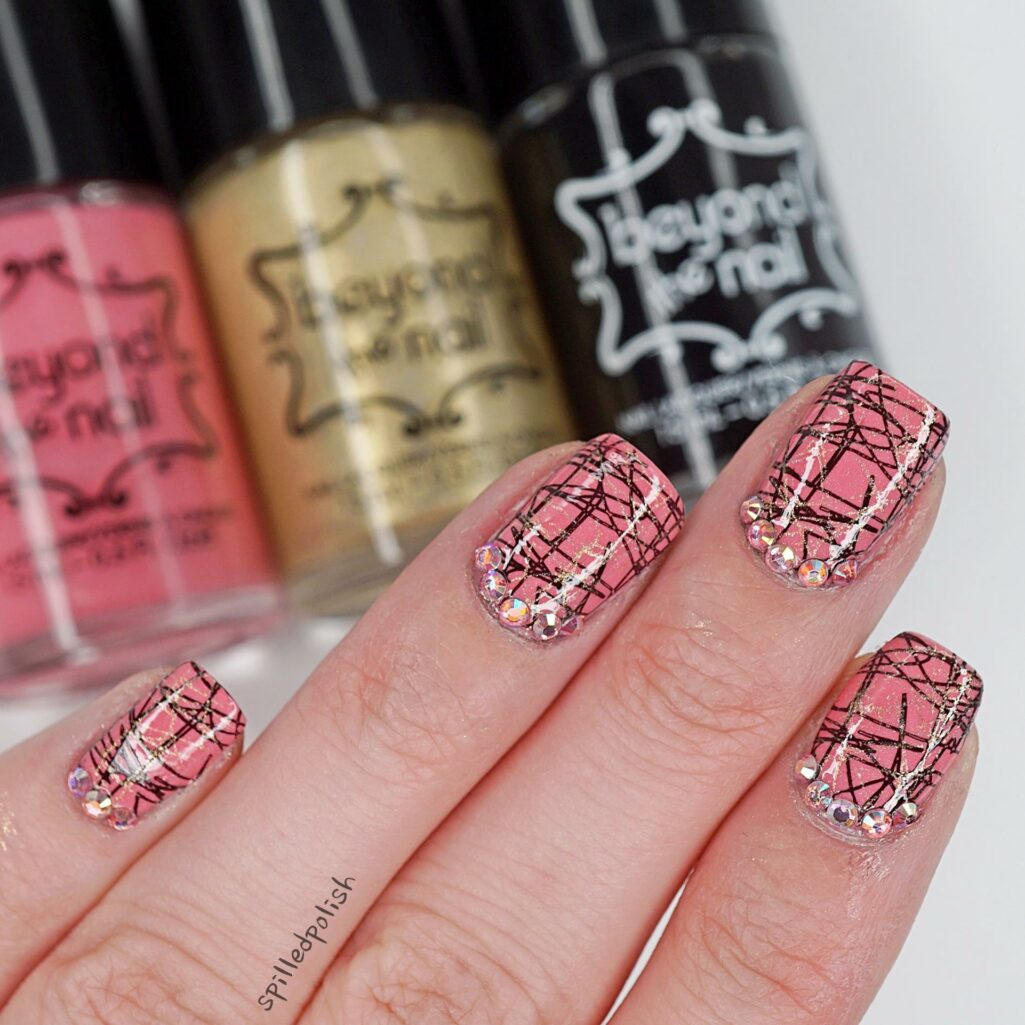 Scribbled Double Stamping Nail Art Spilledpolish