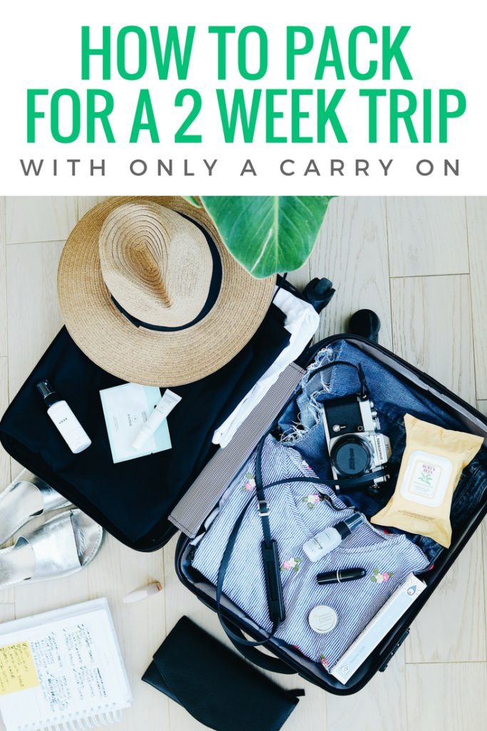 How to Pack for a 2 Week Trip with only a Carry On