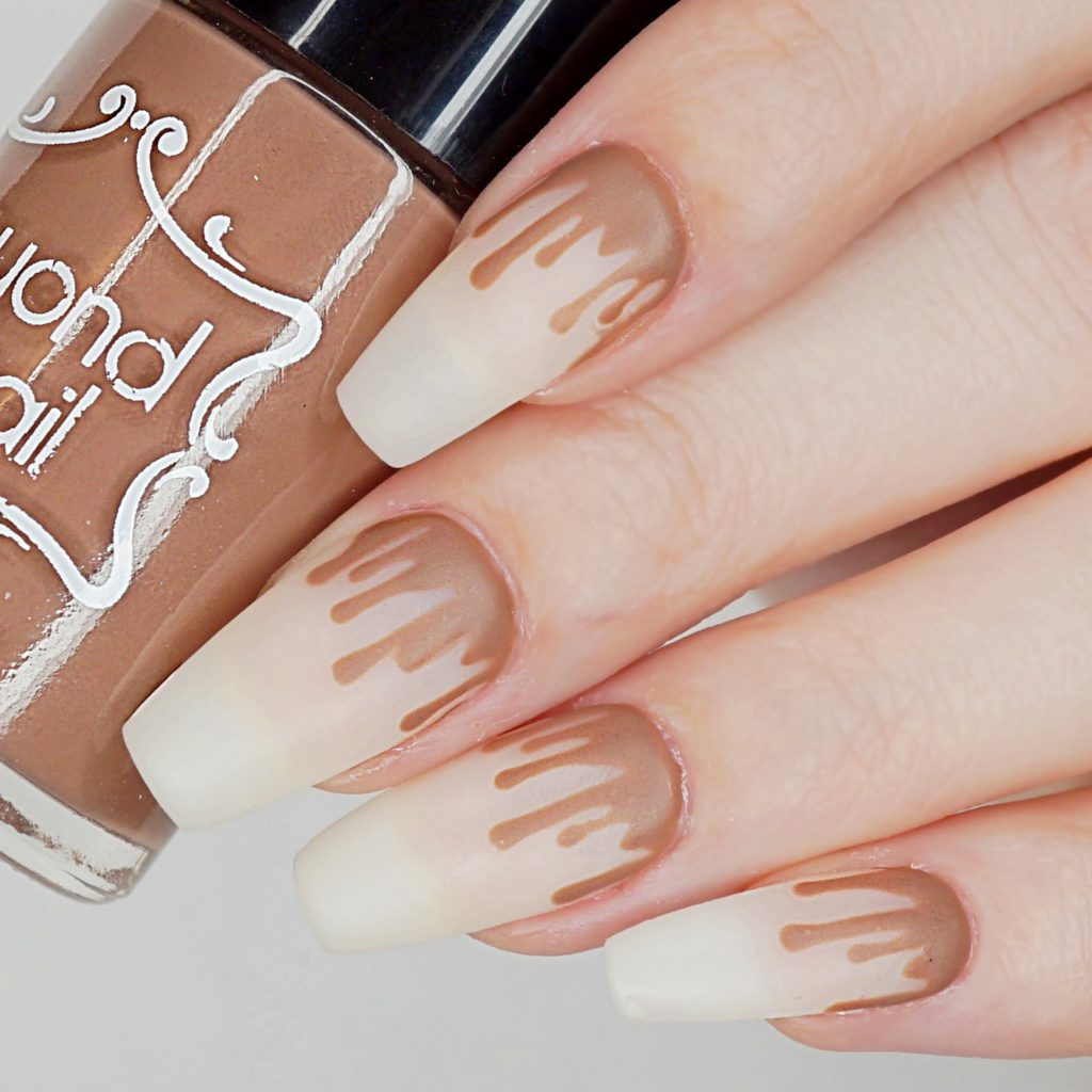 Milk Chocolate Drip Nails